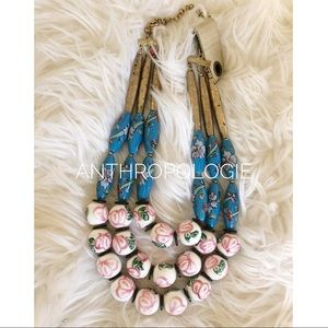 NWT - Anthropologie painted bead necklace